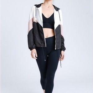 Colorblock Windbreaker Hooded Jacket